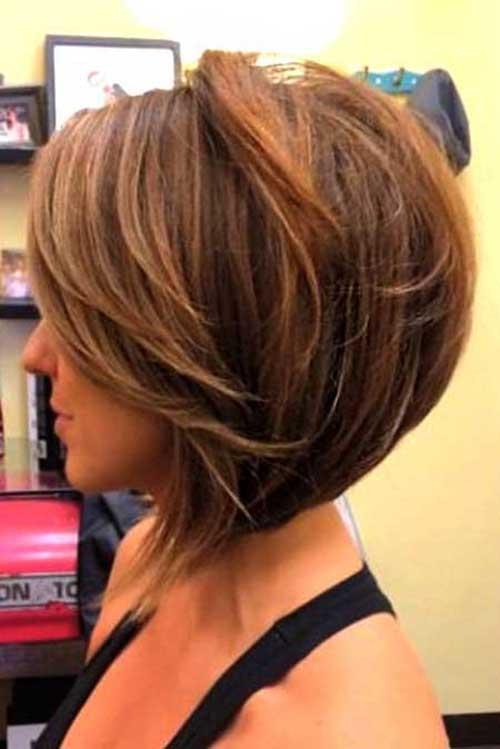 Asymmetrical Bob Short Style Back View | Fashion Qe