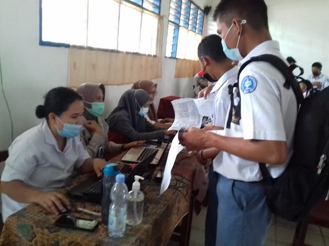 Vaksin  Tahap Pertama  Secara Masal,  Kembali dilaksanakan di Kecamatan Raya Sukses Terlaksana