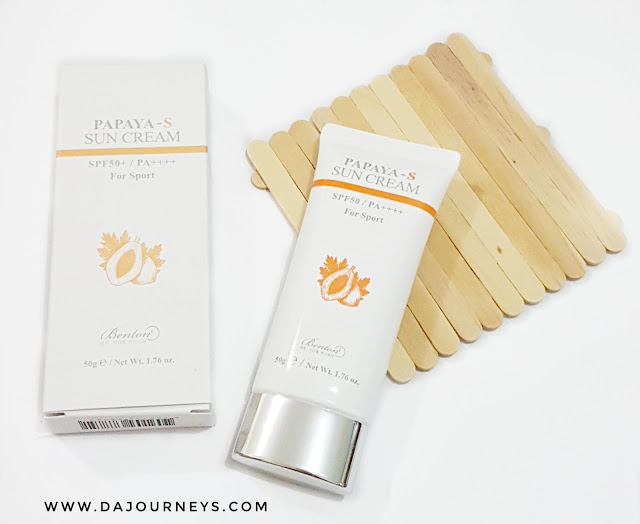 Review Benton Papaya-S Sun Cream