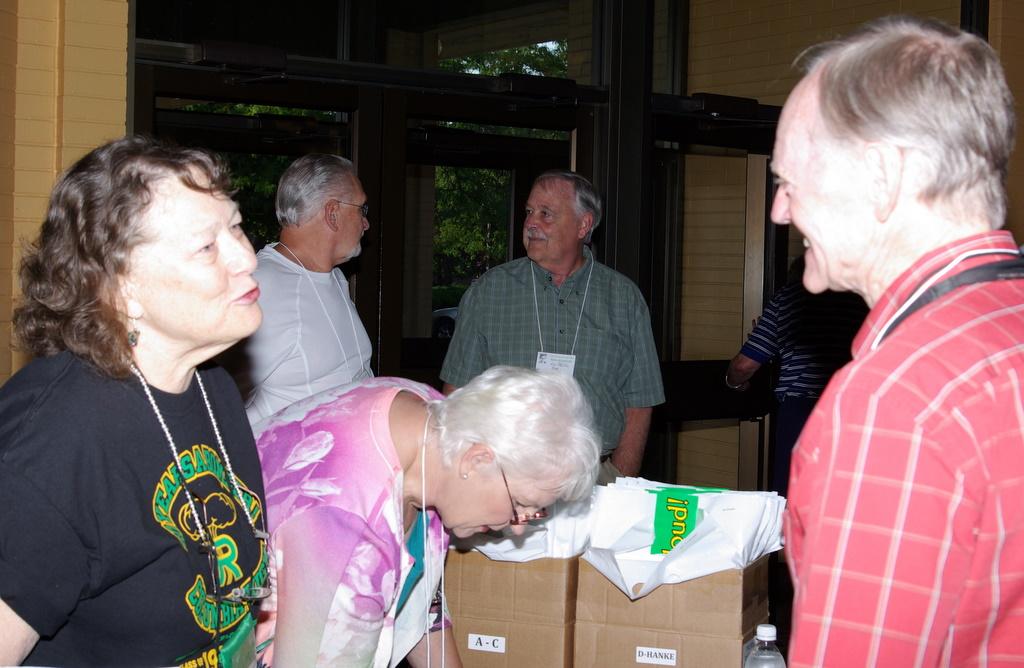 Back:  Roger Gress, Jon Black.  Front:  Janet Tyler, Judy Williams, Bob Trumble.