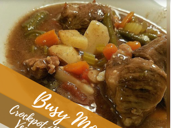 Busy Mom's Crockpot/Pressure Cooker Vegetable Beef Soup
