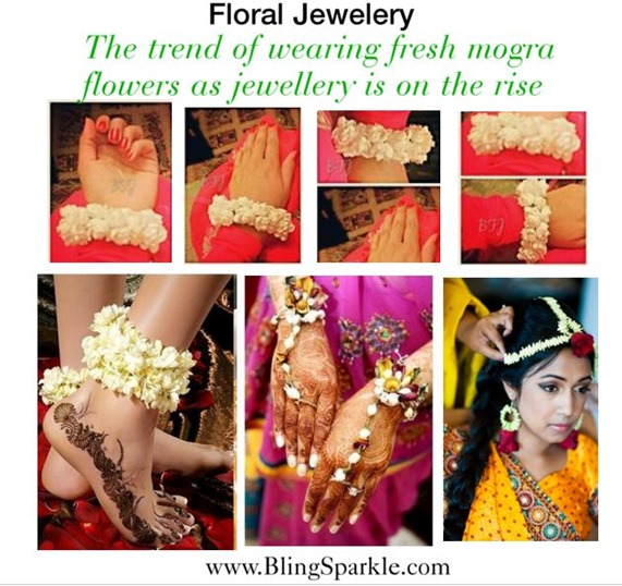 floral jewellery made with jasmine