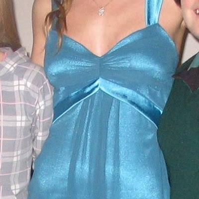Tori -Blue satin & Chiffon ball-gown