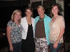 Alumnae Debbi Schneider, Mandy Smiley, Ann Noland and Kristi Hall.