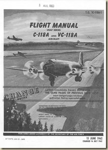 Douglas C-118A_VC-118A Flight Manual