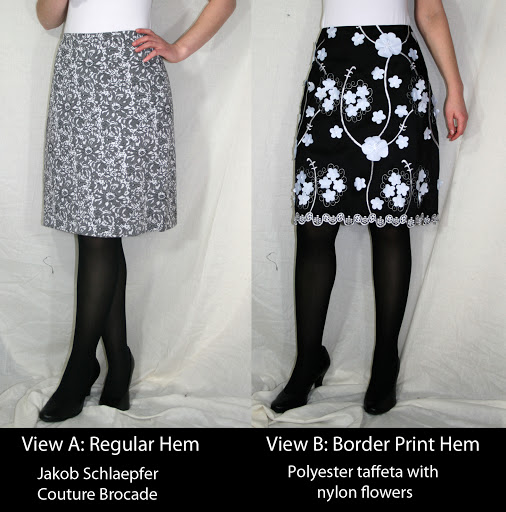 Burda 03-2010-105: A-line skirt (Jakob Schlaepfer brocade and polyester taffeta)