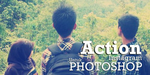Download Action instagram untuk Photoshop
