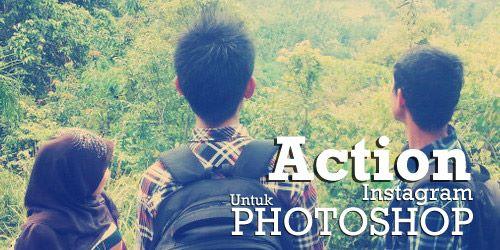 Download Action instagram untuk Photoshop
