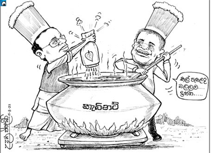 Image result for maithri-ranil coalition government cartoon