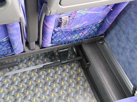 JR四国バス「黒潮エクスプレス」 644-1950 フットレスト
