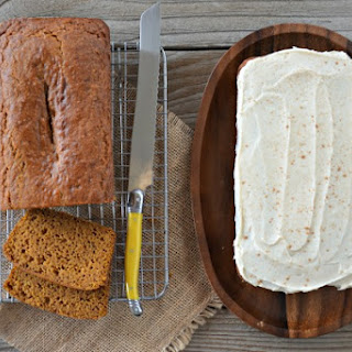 Orange-Pumpkin Bread with Cinnamon Cream Cheese Icing Recipe
