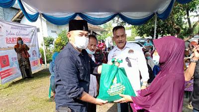 Menjelang Hari Raya Tim Gabungan BHS-M, ORMAS & LSM di Cikalong Kulon Laksanakan Baksos
