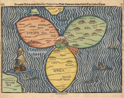 Карта земного шара Бантинга. Иерусалим – пуп Земли. Экскурсия по Иерусалиму.