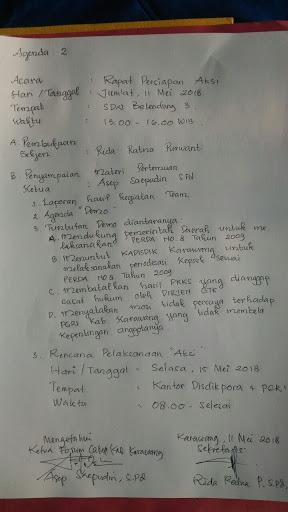 Forum Calon Kepala Sekolah Kabupaten Bakal Gelar Demo Mosi Tidak Percaya Untuk PGRI Karawang