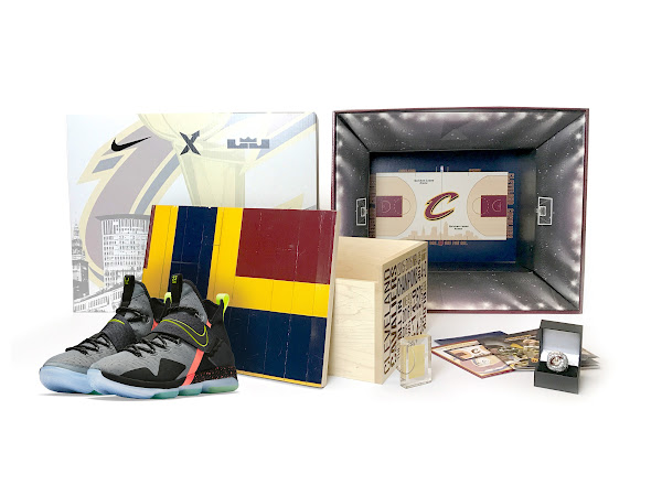 Limited Edition Cavs Championship Court AZG amp LeBron 14 Packs