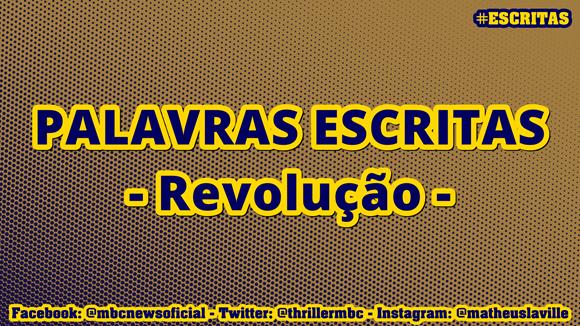 PALAVRAS ESCRITAS Revolução 00 MODERNIZANDO