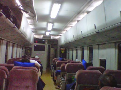 Interior Kereta Gajayana Malang - Jakarta