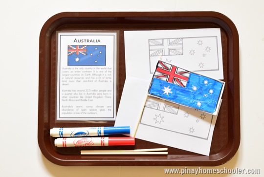 Learning about the flag of Australia