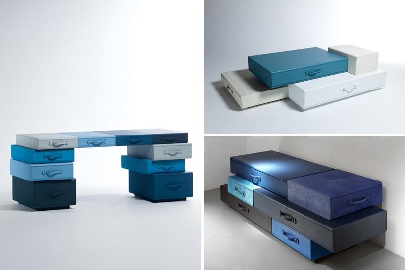 *皮革手提行李箱組合櫃:設計師Maarten de ceulaer探索世界旅行熱情! 10