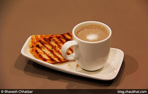 Mushroom Cappuccino Soup served at 212 All Day Cafe & Bar at Phoenix Marketcity in Pune
