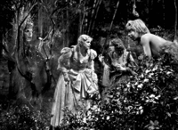 scene from Midsummers Night Dream movie, Jean Muir, Olivia de Havilland, and Mickey Rooney (1935)