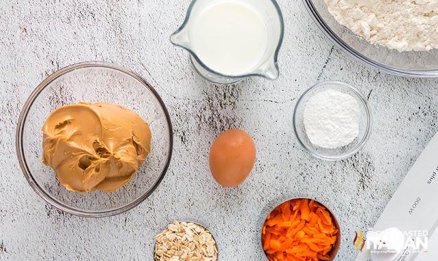 Peanut Butter Dog Treats ingredients