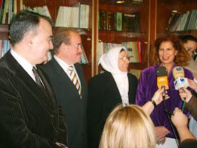 Luis Felipe Martínez, Carmen Albors visitan el Centro Cultural Islámico de Valencia (CCIV)