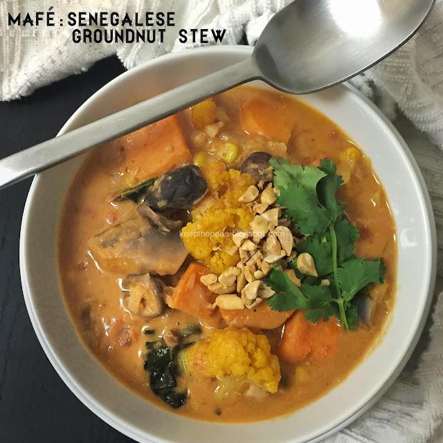 Keep the Peas: MAFÉ: SENEGALESE GROUNDNUT STEW (VEGAN)