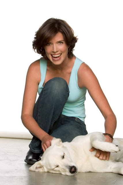 Torri Higginson and her dog