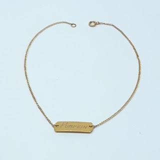 10K Gold Monogram Bracelet