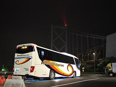 四国高速バス「さぬきエクスプレス福岡号」 3081 めかりパーキングエリアにて