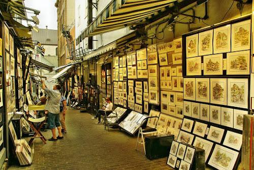 Art fair stall