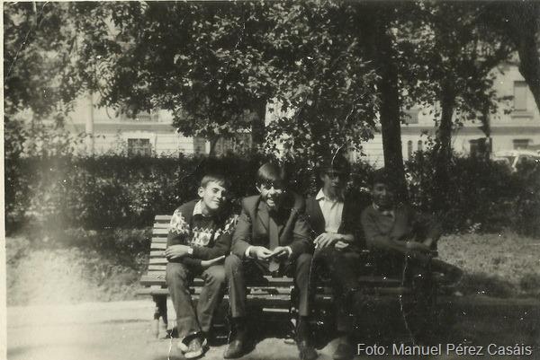 7.-izq-der. Manuel Carreira Prado, Manuel Perez Casais,  Miguel  Camarero, Pablo Camarero, en 1965, Foto de M. Perez Casais_resize (1)
