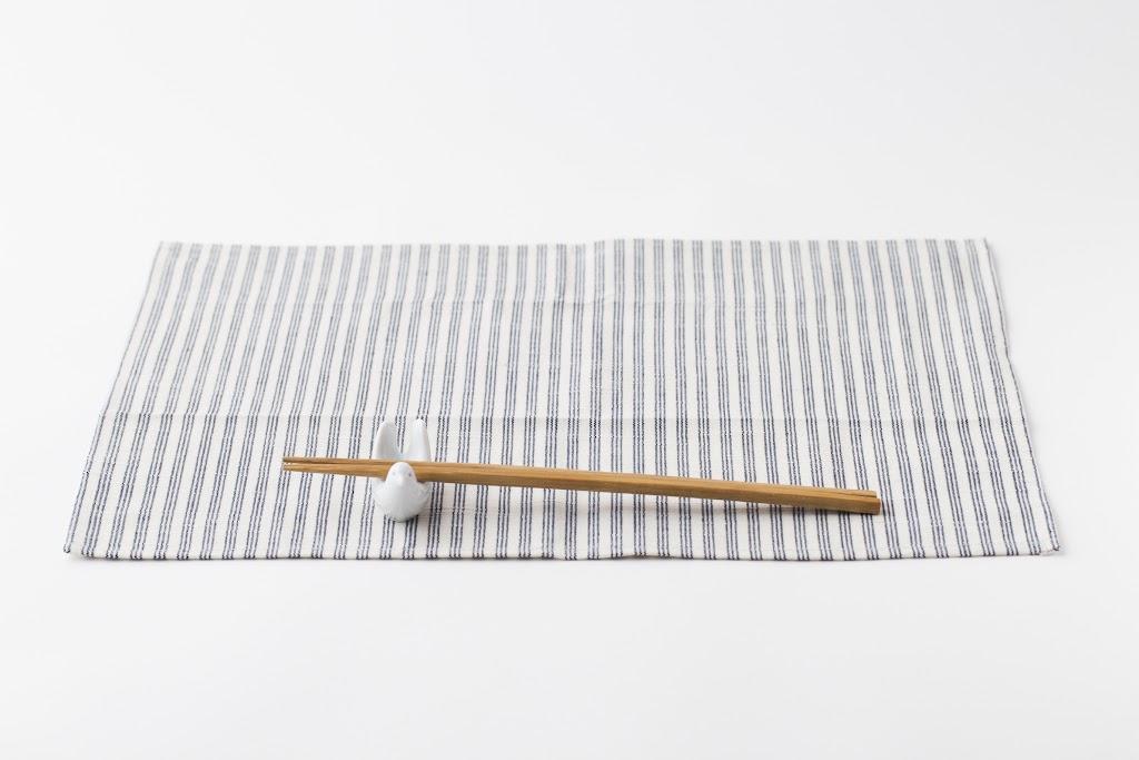 Matsuzaka Cotton Shimaco Luncheon Mat Shimashima-Shiro (Stripe x White)