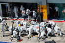 Felipe Massa, Williams FW36 Mercedes, makes a pit stop