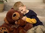 With the big teddy Alex won at the Dentist