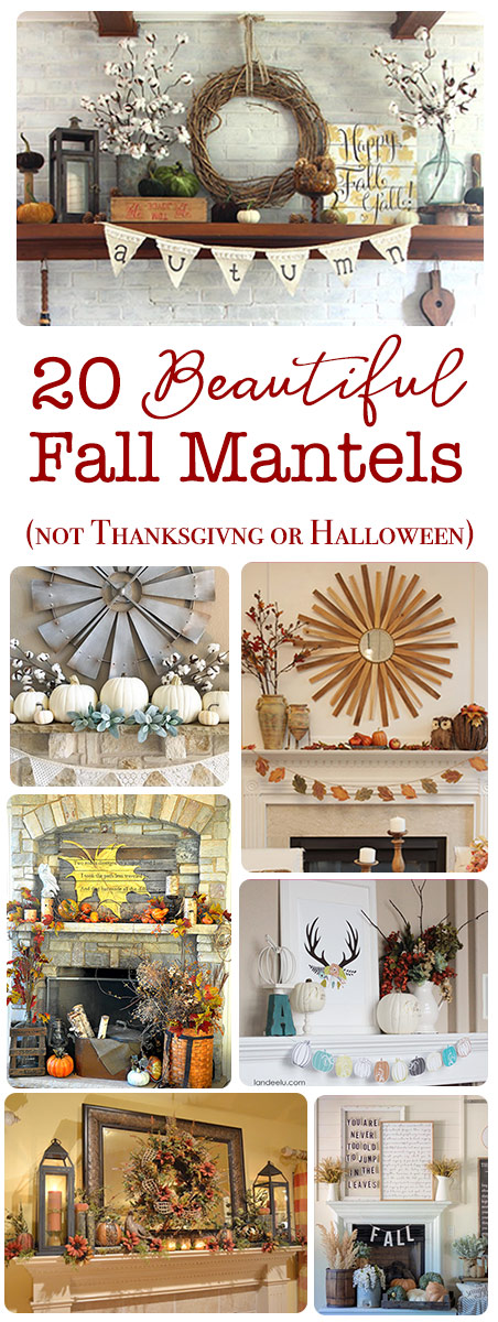 20 Beautiful mantels for fall that are not thanksgiving or halloween