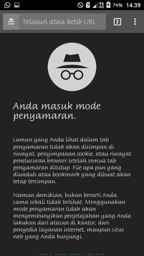 Cara masuk mode incognito google chrome