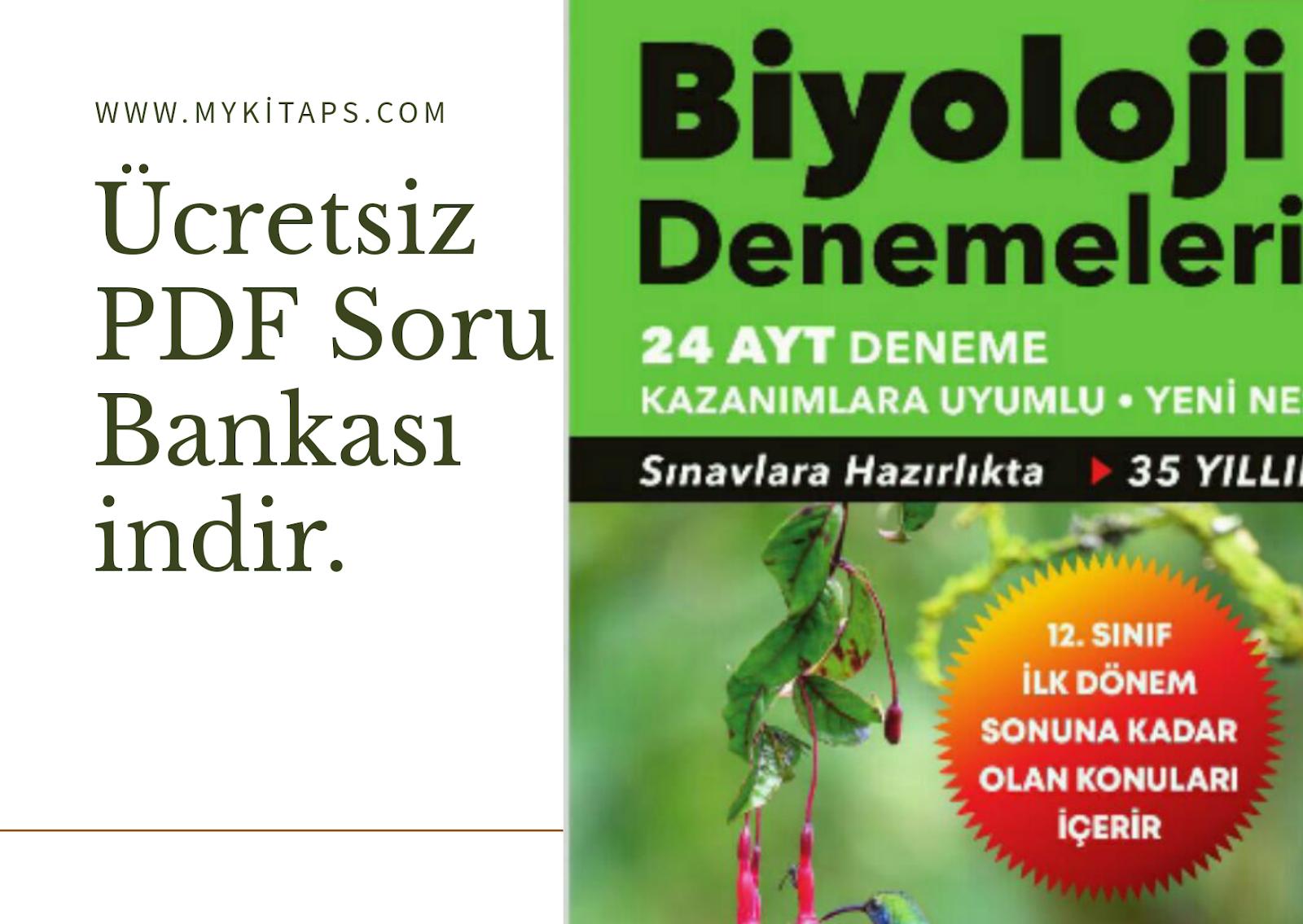 24 AYT Biyoloji Deneme PDF indir