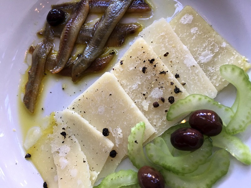 anchovies and parmesan