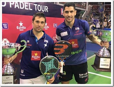 Matías Díaz y Maxi Sánchez deslumbran en Argentina. Campeones del Mendoza Open 2016.