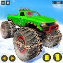 Snow Mountain Monster trucks derby racing stunts icon