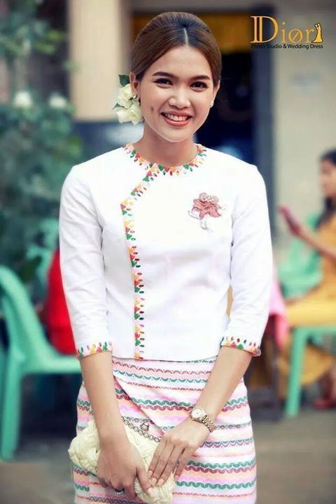 Myanmar S Burmese Traditional Dress Design Fashion 2d