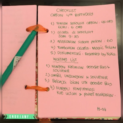 Persiapan ulang tahun anak, to-do-list