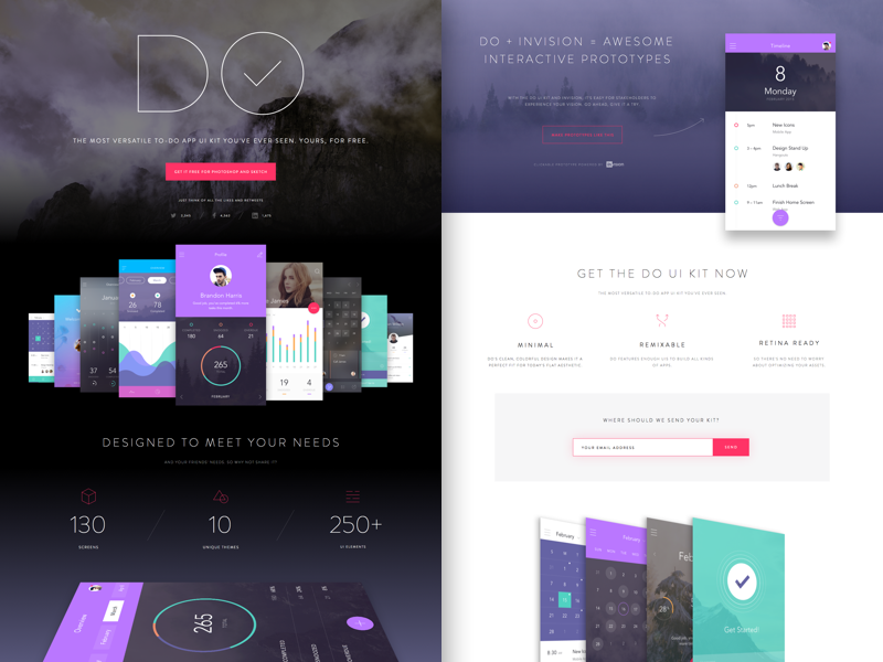 Free Get DO UI Kit for Photoshop & Sketch