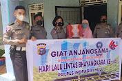 Hari Lantas Bhayangkara ke-66, Polres Inhu Sambangi Purnawirawan Polantas