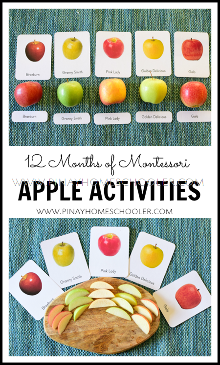 Montessori Inspired Apple Activities