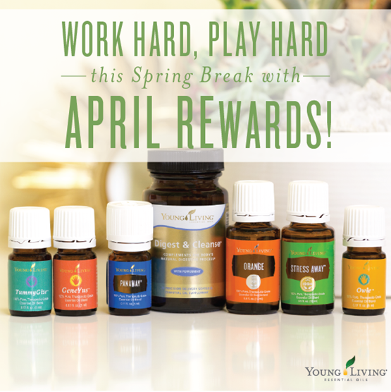 Young Living April 2016 Promotions