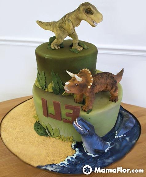 pastel de dinosaurios - 16