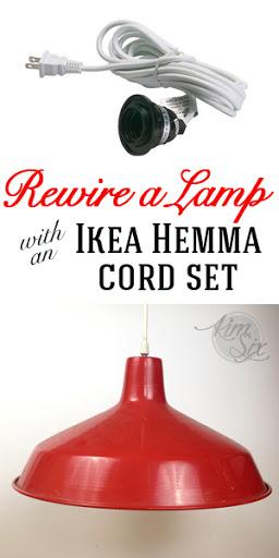 how to rewire a lamp with an ikea hemma cord set the kim six fix rh thekimsixfix com Light Kits for Lamps Table Lamp Making Kit